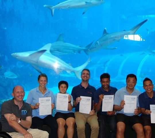 Disabled diver instructors in Singapore